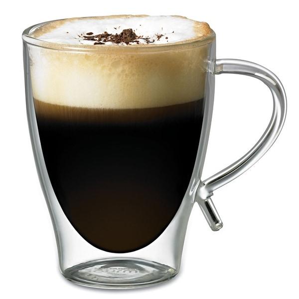 Shop Starfrit Double Wall Glass Coffee Mug 12 Ounce Free Shipping