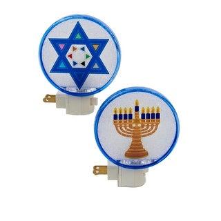 "5"" Beaded Hanukkah Menorah Festive Holiday Night Light"