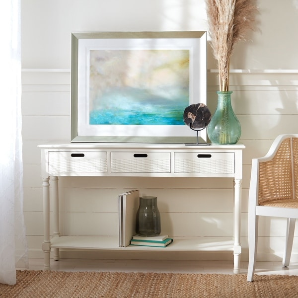 "Safavieh Landers 3-Drawer Console Table - 47.3"" W x 13"" L x 29.5"" H - 47.3"" W x 13"" L x 29.5"" H. Opens flyout."