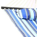 Sunnydaze 2-Person Quilted Hammock with Spreader Bars and Detachable Pillow - Hammock Stand Included - Thumbnail 8