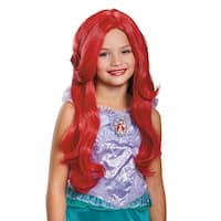Girls Deluxe Little Mermaid Ariel Disney Wig - Standard - One Size