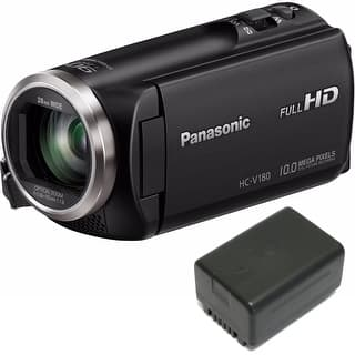 Panasonic HC-V180K HD Camcorder 50x Optical Zoom w/ Wasabi VBT190 Spare Battery|https://ak1.ostkcdn.com/images/products/is/images/direct/654964741b633525369c52f5c45c864f24a99061/Panasonic-HC-V180K-HD-Camcorder-50x-Optical-Zoom-w--Wasabi-VBT190-Spare-Battery.jpg?impolicy=medium
