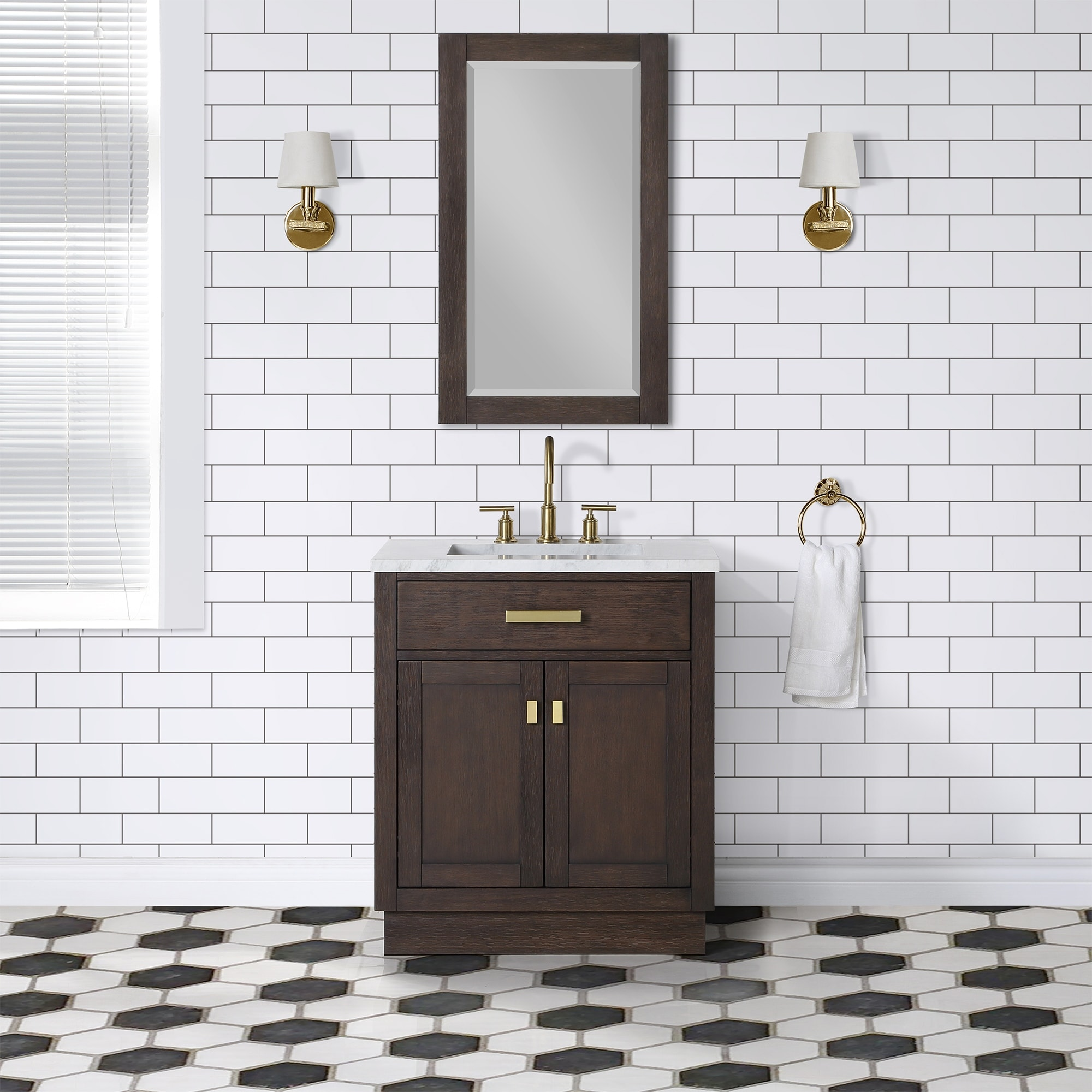 Chestnut 30 Single Bathroom Vanity Vanity With Mirror S Overstock 31227661