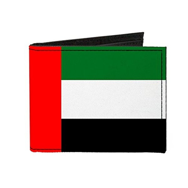 Buckle-Down Canvas Bi-fold Wallet - United Arab Emirates Flag Accessory
