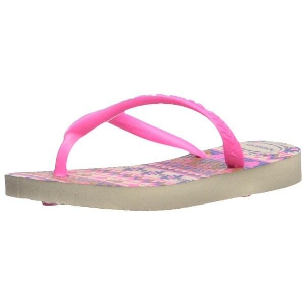 e24fba5d9 Shop Havaianas Kids  Slim Fashion Sandal Beige Pink - 23 24 br ...