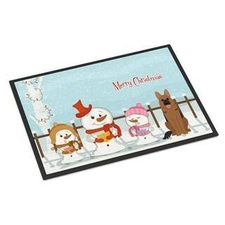 Carolines Treasures BB2398MAT Merry Christmas Carolers German Shepherd Indoor or Outdoor Mat 18 x 0.25 x 27 in.