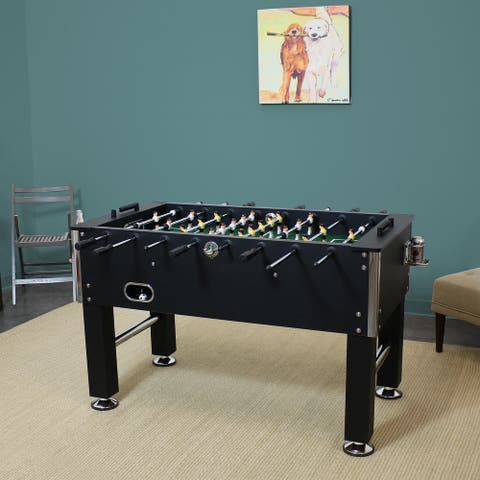 "55"" Foosball Game Table with Drink Holders - Sports Arcade Soccer"