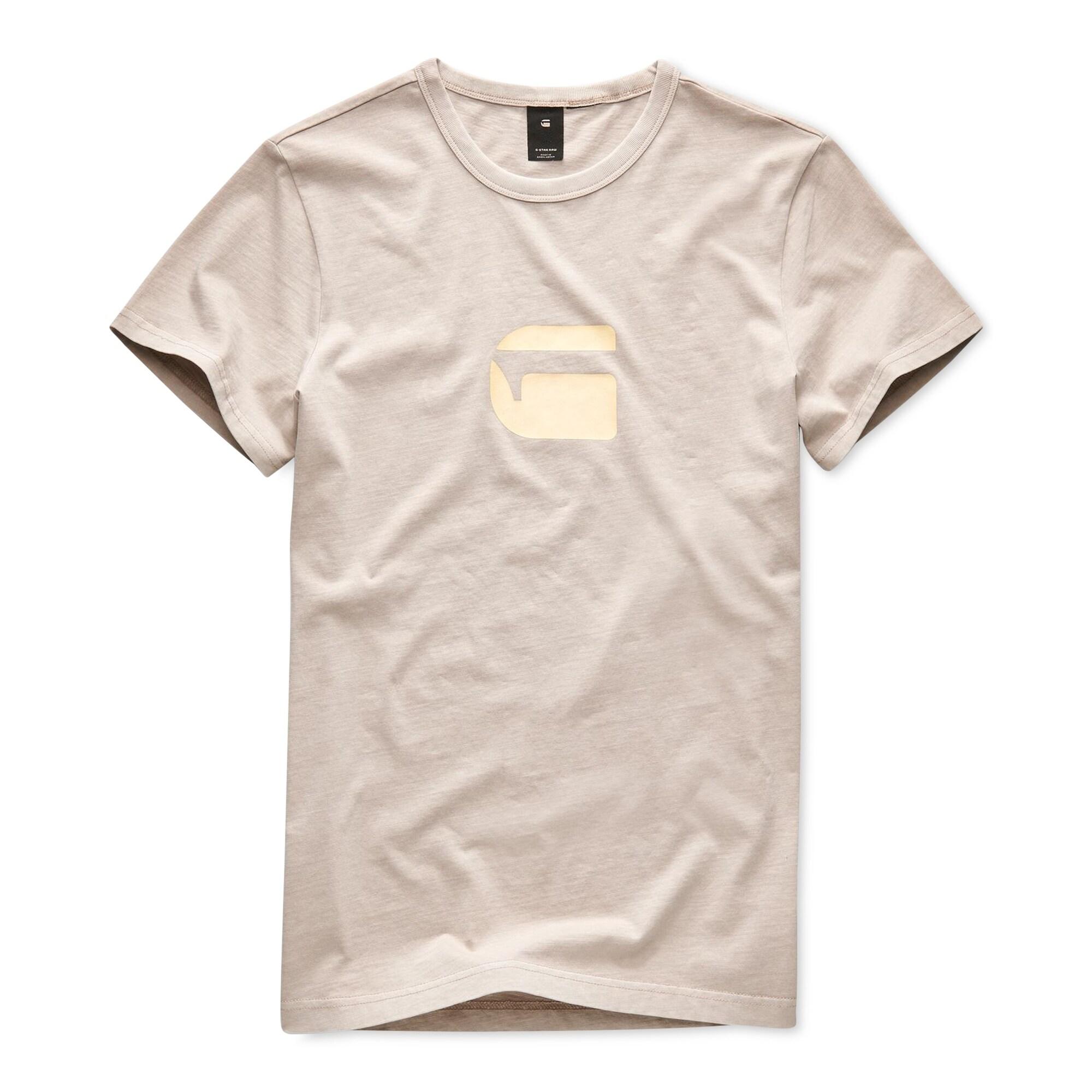 G STAR RAW Mens Beige Size Medium M Dedda Crewneck Graphic Tee T Shirt