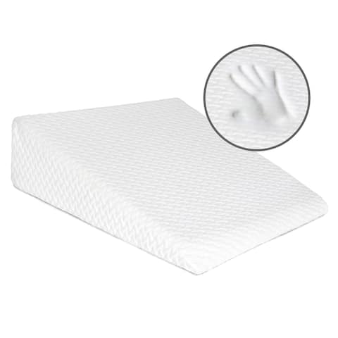 Milliard Bed Wedge Pillow with Memory Foam Top -Helps with Acid Reflux, Reduces Pain, Breathable and Washable Cover  7.5 in