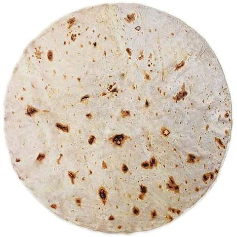 Rainbean Round Novelty Burrito Tortilla Blanket