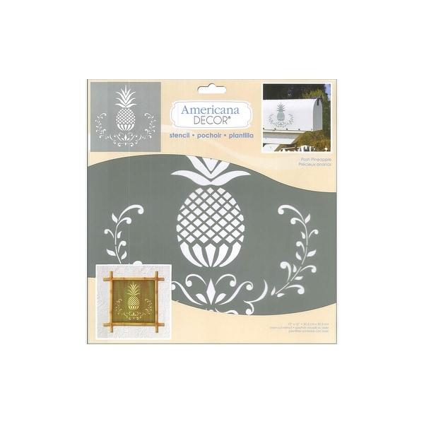 Decoart Americana Decor Stencil Posh Pineapple