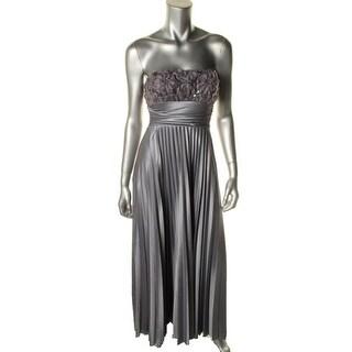 Speechless Womens Juniors Formal Dress Satin Strapless