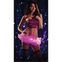 Pink Light Up Mini Petticoat, Light Up Wear - One Size Fits Most