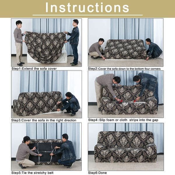 Enjoyable Shop Home 1 2 3 4 Seats Stretch Flannel Sofa Cover Loveseat Forskolin Free Trial Chair Design Images Forskolin Free Trialorg