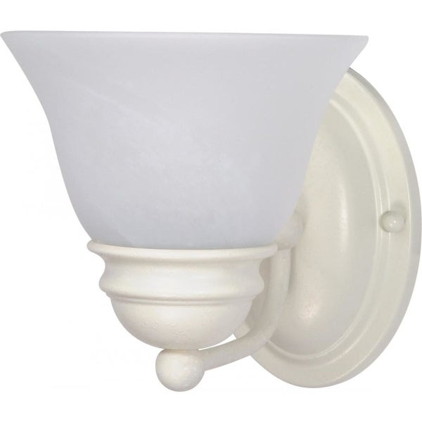 """Nuvo Lighting 60/352 Empire 1-Light 6-1/4"""" Wide Bathroom Sconce with Frosted Glass Shade - textured white - n/a"""