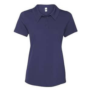 All Sport Women's Performance 3-Button Mesh Polo - Sport Navy - XS