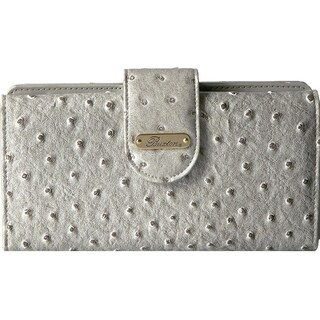 Buxton Womens Ostrich Brights Go To Clutch Wallet Faux Leather Embossed - o/s (Option: Paloma)