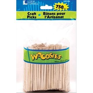 "Woodsies Craft Picks-Natural 3.5"" 750/Pkg"