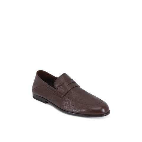 Harrys of London Mens Edward Leather Closed Toe Penny Loafer