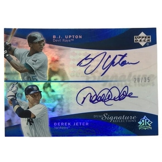 Derek Jeter BJ Upton Signed 2005 UD Dual Signature Reflections 20/35 Card