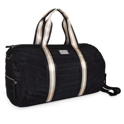 Adrienne Vittadini Quilted Barrel Weekender Duffel Bag