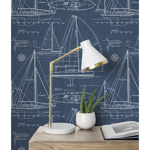 NextWall Yacht Club Peel and Stick Removable Wallpaper