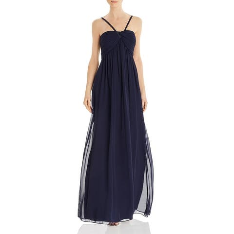 Eliza J Womens Evening Dress Chiffon Sleeveless - Navy