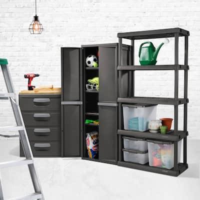 STERILITE 5 Shelf Unit, Flat Gray - Case of 1