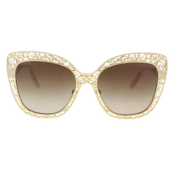 179d69f850b Shop Dolce   Gabbana DG2164 4314 02 13 Gold Cat Eye Sunglasses - 56 ...