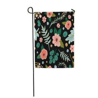 Pattern Flowers and Leaves Valentines Day Birthday Save The Garden Flag Decorative Flag House Banner 12X18 Inch