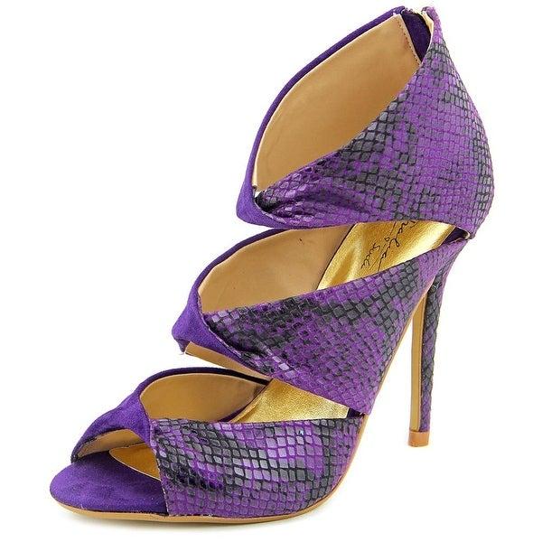 Thalia Sodi Rosanny Open-Toe Canvas Heels