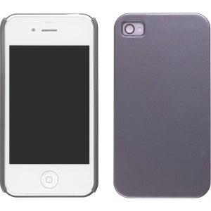 Wireless Solutions Color Click Shell Case for Apple iPhone 4 - Gunmental Gray