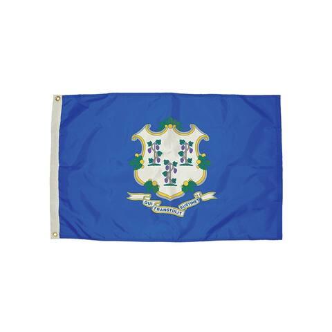 Independence flag 3x5 nylon connecticut flag heading 2062051