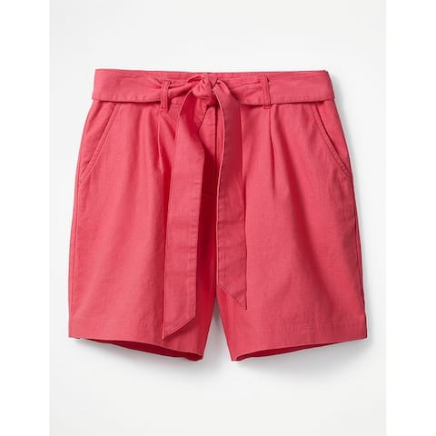 Boden Sunset Red Womens Size 16 Tie-Waist Flat-Front Casual Shorts