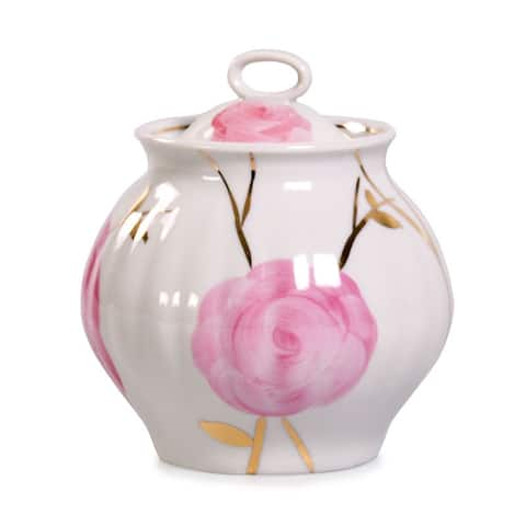 Dulevo Spring Gold Fine China Sugar Bowl