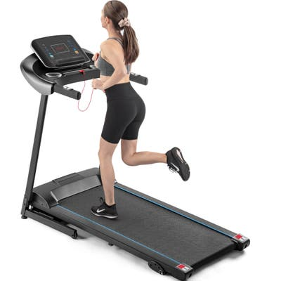 Global Pronex Folding Treadmill with Audio Auxiliary Port with Dual Speakers,12 Pre-set Programs,3-Level Manual Incline - 59.84