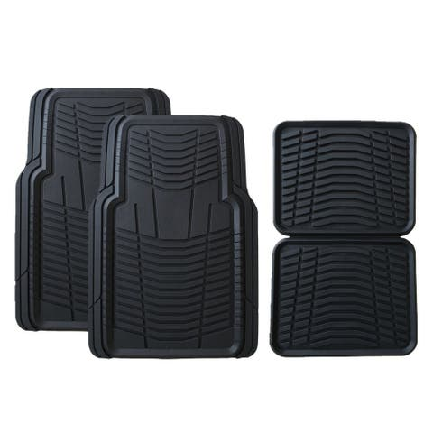 Member's Mark All-Weather Automotive Floor Mats (4 Pack, Black)