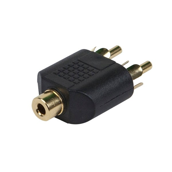 Monoprice 3.5mm TRS Stereo Jack to 2x RCA Plug Splitter Adapter, Gold Plated