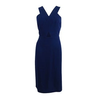 BCBGeneration Women's Cutout Crepe Midi Dress - Dark Navy