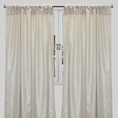 "Rodeo Home Shanna Elegant Metallic Linen Look Curtains - Set of 2 - 54"" x 96"""