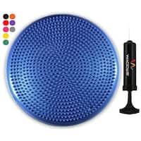 "Wacces 13"" Athletic Inflatable Massage Balance Stability Fitness Cushion Disc to Improve Balance & Flexibility, Blue"