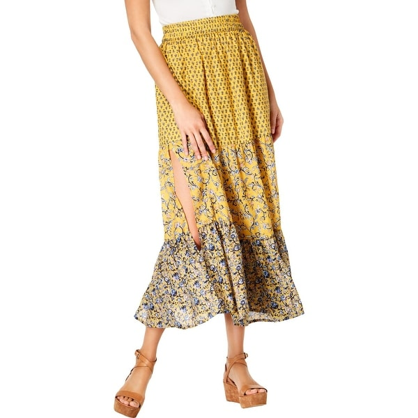 f658ca9740 Shop French Connection Womens Maxi Skirt Floral Pull On - 10 - Free  Shipping On Orders Over $45 - Overstock - 28442386