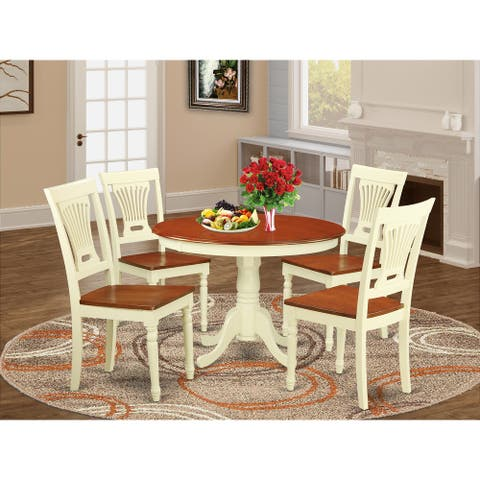 5 Pc set with a Dining Table and 4 Dinette Chairs (Finish Option)