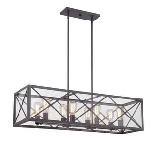 Designers Fountain 87338 High Line 8 Light 1 Tier Linear Chandelier