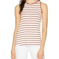 Sanctuary Red White Womens Size Large L Striped Twist-Back Tank Top