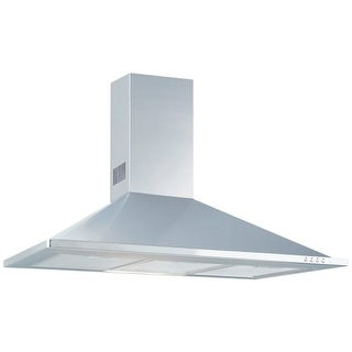 """Air King GRAN36SS 36"""" Wall Mounted Hood with 600 CFM, Aluminum Mesh Filtering, T"""