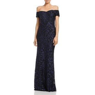 Link to Laundry by Shelli Segal Womens Evening Dress Off-The-Shoulder Satin Similar Items in Dresses