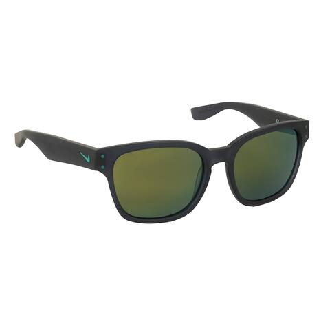 226f04f540 Nike Volano R EV0878 Sunglasses - Matte Obsidian w/Green Tri Pet Lens