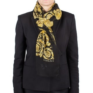 Versace Women's Medusa Head Baroque Patten Silk Scarf Large