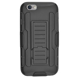 Insten Car Armor Hard PC/ Silicone Dual Layer Hybrid Case Cover with Stand/ Holster For Apple iPhone 6/ 6s